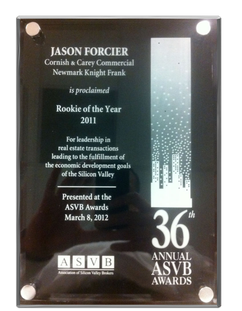 jason forcier rookie of the year award